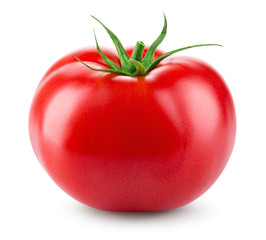 Photo sur Plexiglas Legume Tomato isolated. Fresh tomato. With clipping path. Full depth of field.
