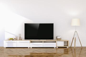 3d modern living interior setup render