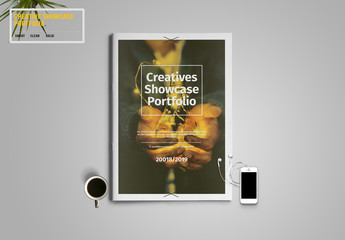 Portfolio Layout With Yellow Accent