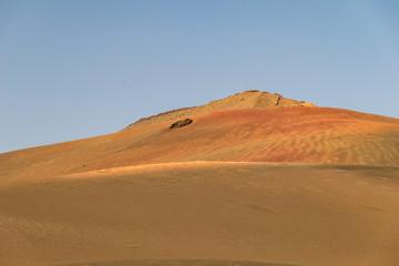 Photo sur Plexiglas Orange eclat Lanzarote (Isole Canarie) - Panorama dei vulcani (Parco Nazionale Tymanfaya)