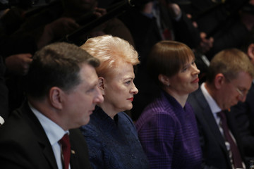 Baltic leaders attend working luncheon at the White House in Washington