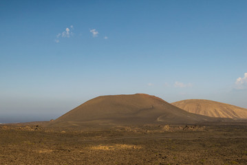 Lanzarote (Isole Canarie) - Panorama dei vulcani (Parco Nazionale Tymanfaya)