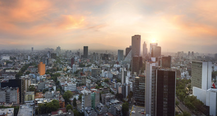 Fototapete - Panoramic View of Mexico City - Mexico