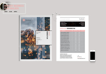 Pink and Gray Annual Report Layout