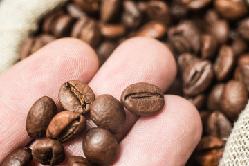 coffee fried in beans