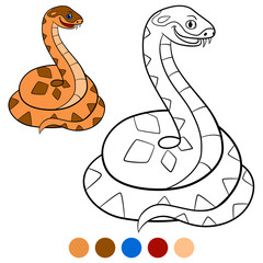 Color me: viper. Little cute viper smiles.