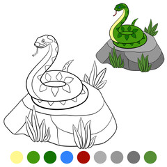 Color me: viper. Little cute viper is on the stone.