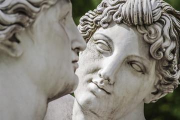 Statue of lovely Nymphs at Rosenstein park in Stuttgart