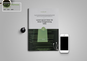 Green and Gray Annual Report Layout