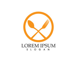 fork and spoon icon vector template ..