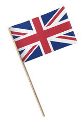 Small UK flag isolated on a white background