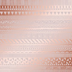 Rose gold. Vector decorative pattern for design and decoration