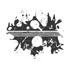 Ping-pong posters design. Grunge vector illustration