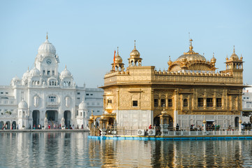 Wall Mural - Golden Temple Harmandir Sahib at daylight. Amritsar