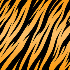 Print tiger texture black and orange background