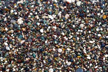 Colorful coastal rocks