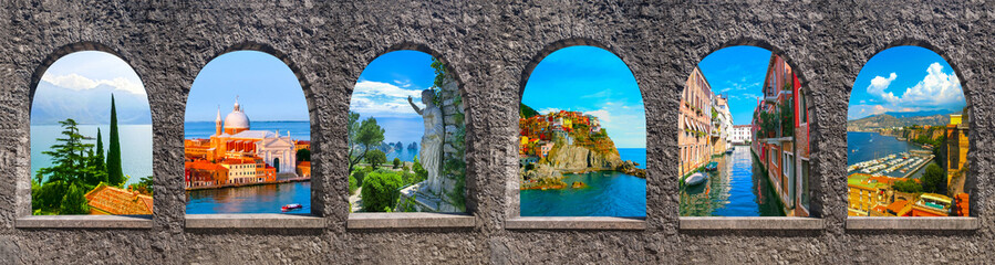 Collage from photos of Italy Wall mural