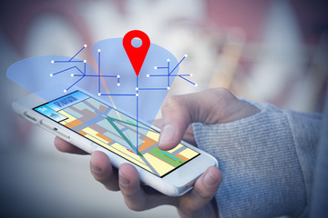 hand-held phone with gps or locator