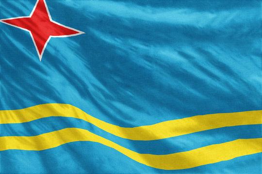 Aruba flag close-up