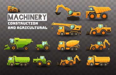 Industrial and agricultural machinery set.