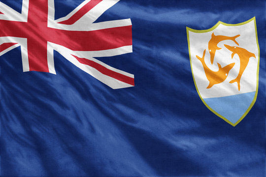 Anguilla flag close-up