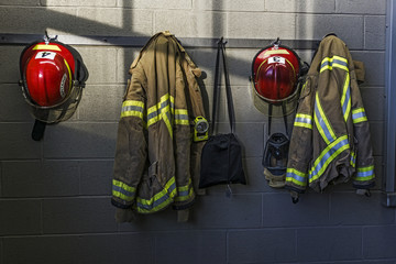 Firefighter helmet and uniform