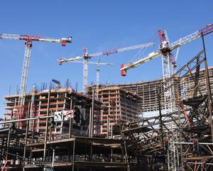 Building construction on the CityCenter, Las Vegas, Nevada.