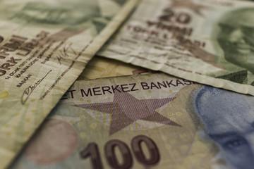 Money. Turkish banknotes, wallpaper.