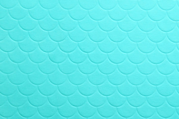 Paper embossing fish scales seamless texture. tiffany color background