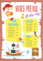 design for kids menu