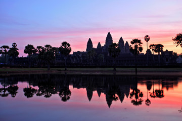 Angkor Wat Temple at Sunrise, Temples of Angkor, Cambodia