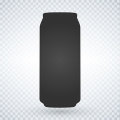 Beer or soda can icon on light background. Vector isolated Illustration.