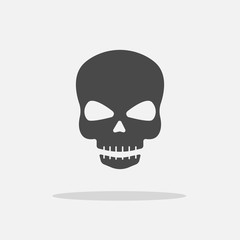 skeleton skull vector icon head danger symbol