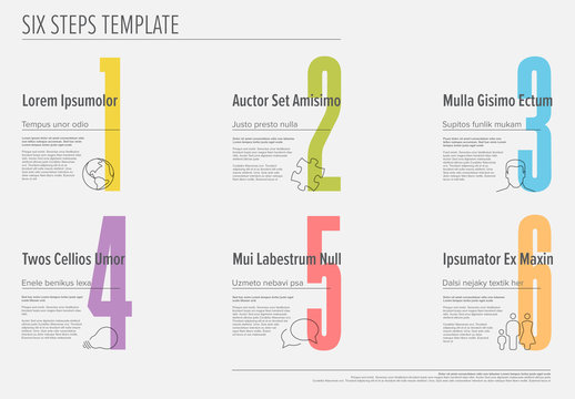 6 Steps Infographic Layout