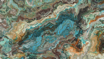 Turquoise raw gemstone texture
