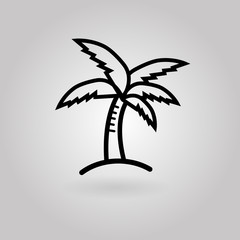 Vector icon palm