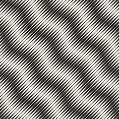 Seamless ripple pattern. Repeating vector texture. Wavy graphic background. Simple stripes