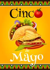Mexican Cinco de Mayo vector fiesta greeting card