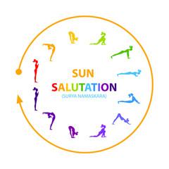 sun salutation yoga asana