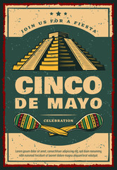 Mexican holiday banner for Cinco de Mayo party