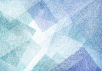 blue green and white squares diamonds and overlapping transparent transparent shapes on light pastel background, polygon geometric design in modern art style backdrop