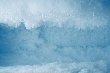 icy frost background in freezer Wall mural