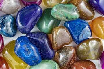 Several Beautiful and Colorful Crystal Stones