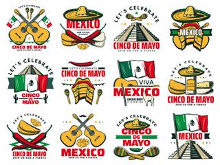 Viva Mexico icon for Cinco de Mayo mexican holiday