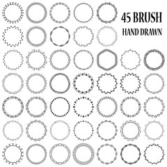 Hand drawn decorative brushes