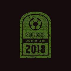 Emblem of soccer team