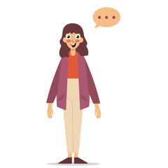 Girl thinking flat style. Cartoon colorful vector illustration