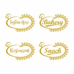 Restaurant Label Logo Vector