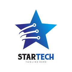 Star Tech Logo vector