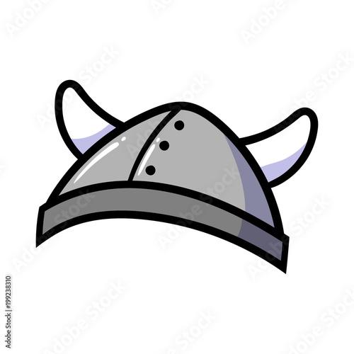 Cartoon Viking Helmet\